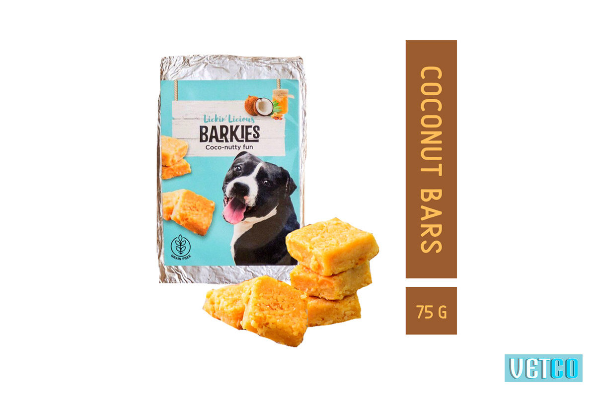 Clever Canine Barkies Peanut Butter Coconut Bars