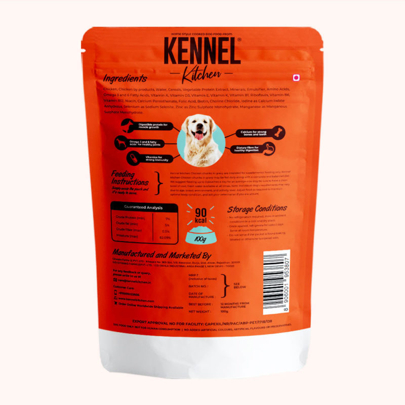 Kennel Kitchen Chicken Chunks in Gravy (All Breeds and Sizes)