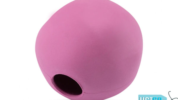 Beco Pets Eco Friendly Treat Ball Dog Toy – Pink