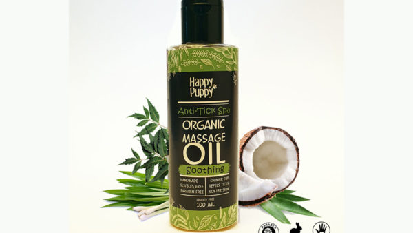 Happy Puppy Organic Anti-Tick Spa Massage Oil
