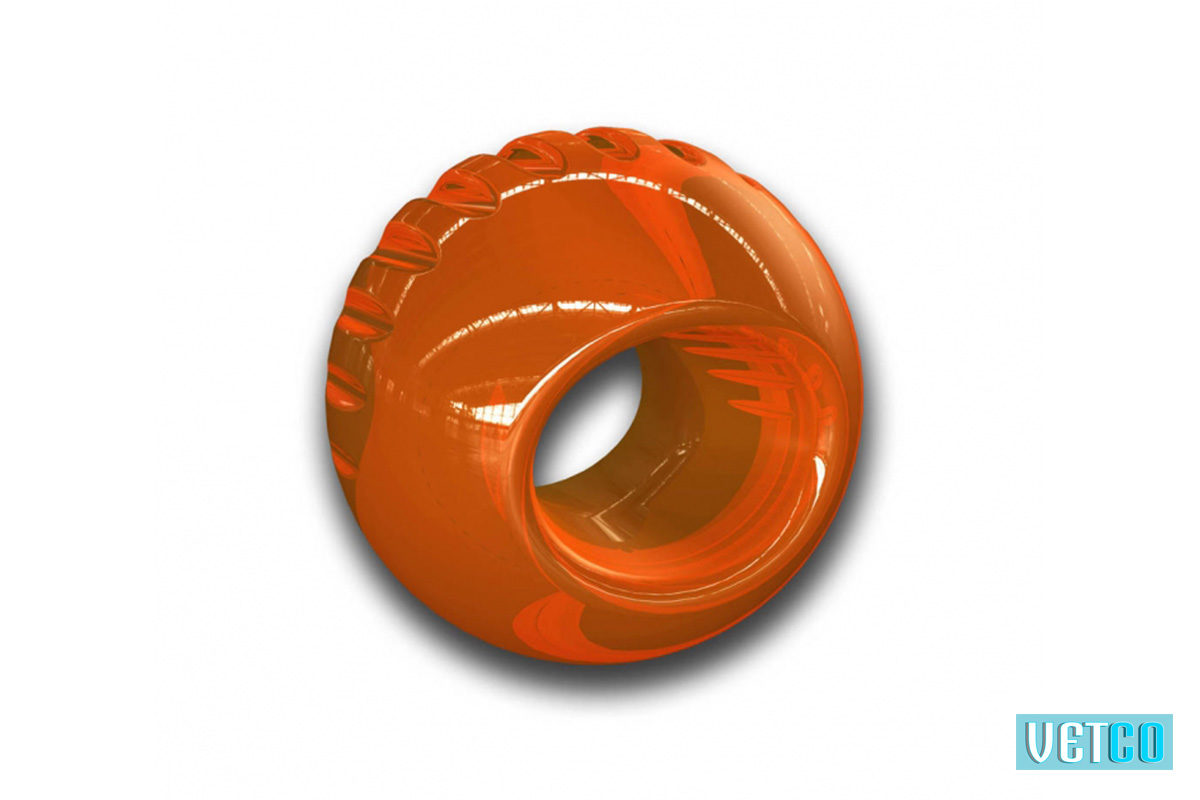 Outward Hound Bionic Super Strong Ball Dog Toy – Orange