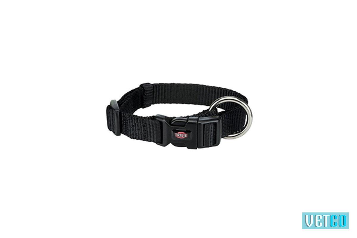 Trixie Premium Solid Dog Collar, Jet Black