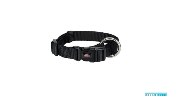Trixie Premium Solid Dog Collar, Jet Black