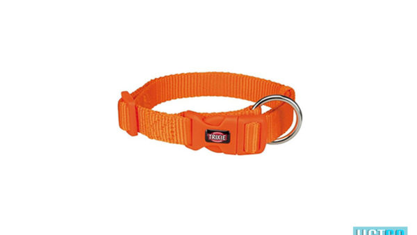Trixie Premium Solid Dog Collar, Papaya