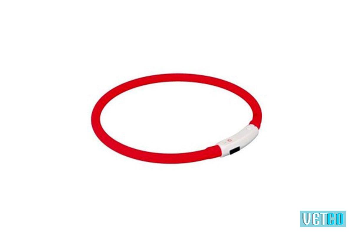 Trixie, USB Flash Light Ring Collar – Red