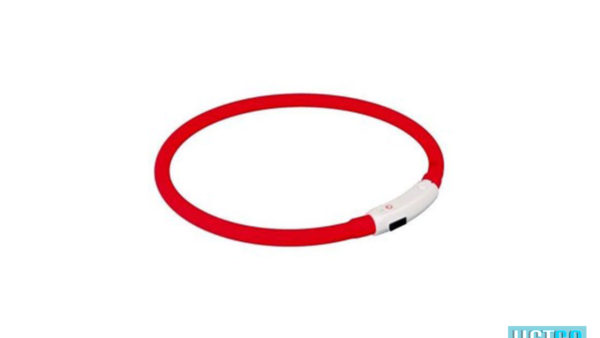 Trixie, USB Flash Light Ring Collar – Red