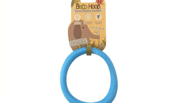 blue hoop toy