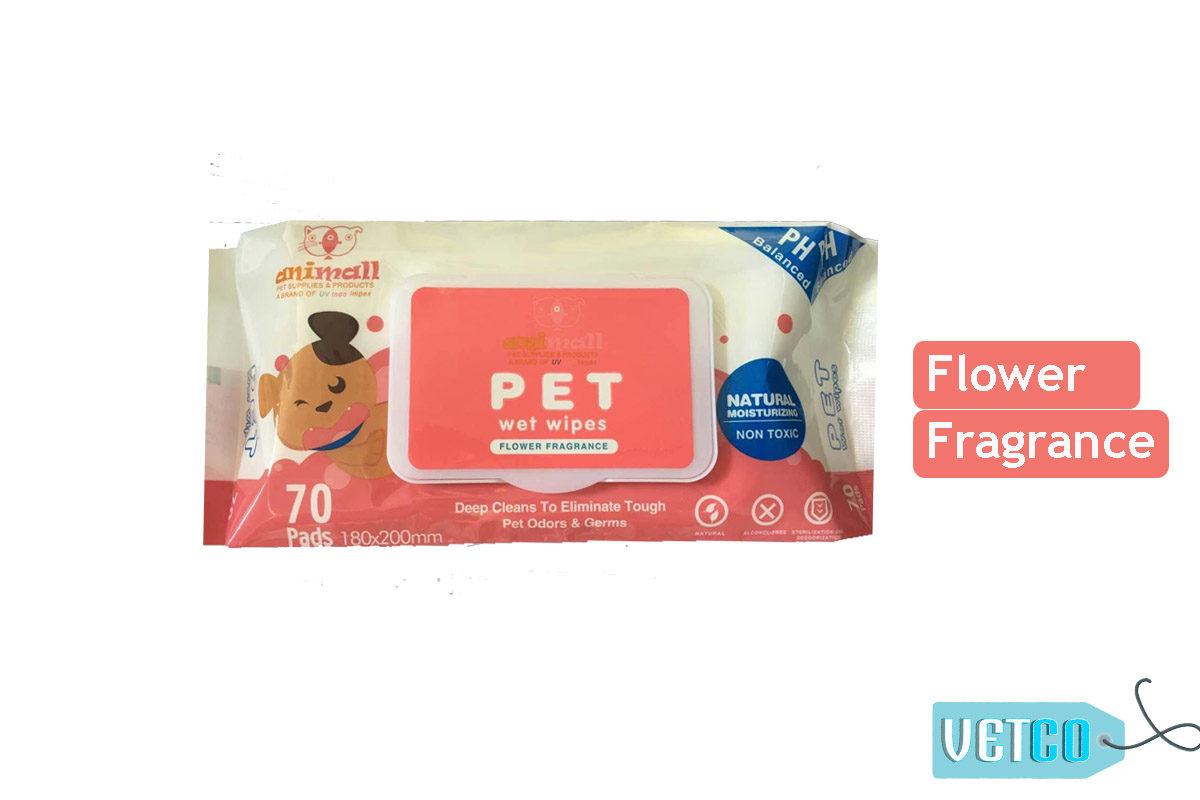 Animall Pet Wipes for Dogs and Cats (70 Count