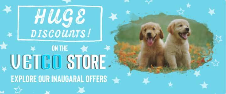 huge discounts on the vetco store