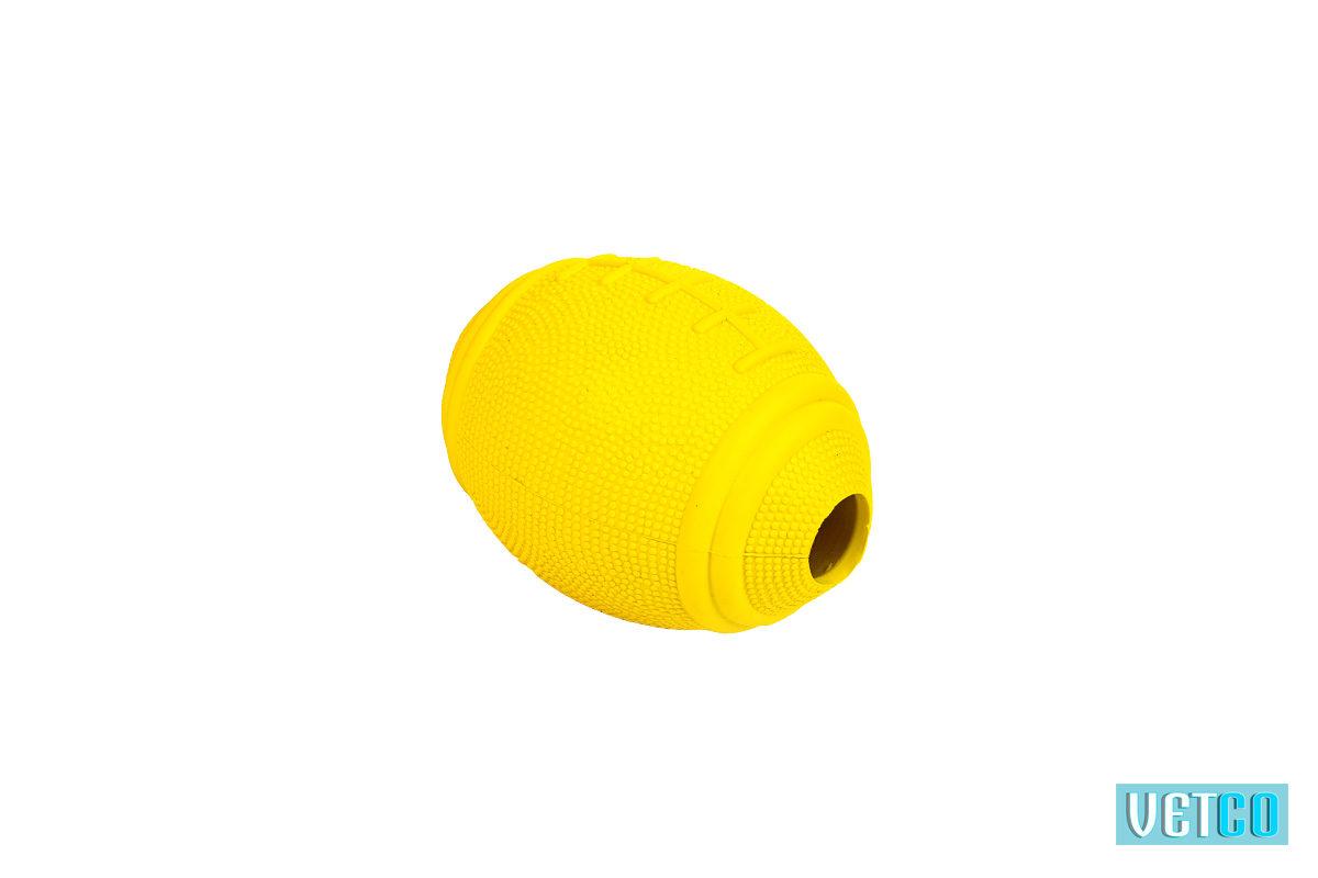 Bark Butler Basics Just A Fooball Dog Toy – yellow
