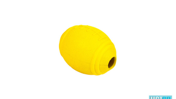 Bark Butler Basics Just A Fooball Dog Toy – yellow