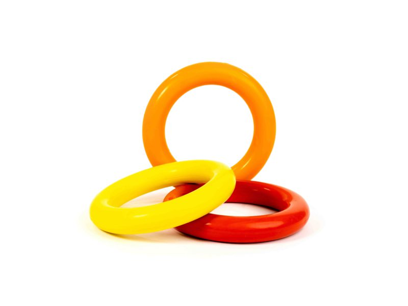 Bark Butler Basics Just A Ring Dog Toy - Yellow