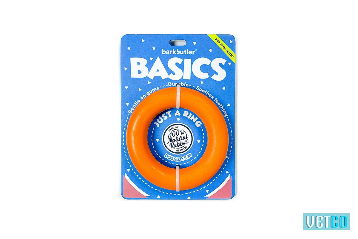 Bark Butler Basics Just A Ring Dog Toy - Orange
