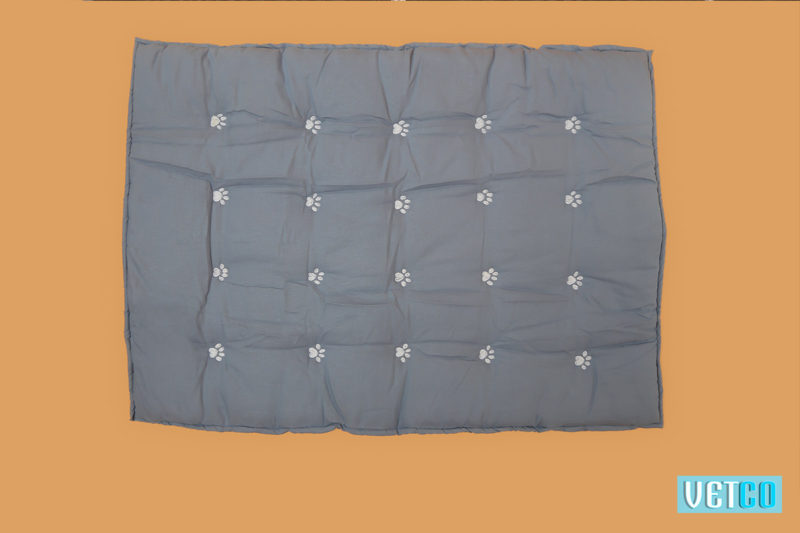 Charcoal Grey & Cornflower Blue Reversible Bed3