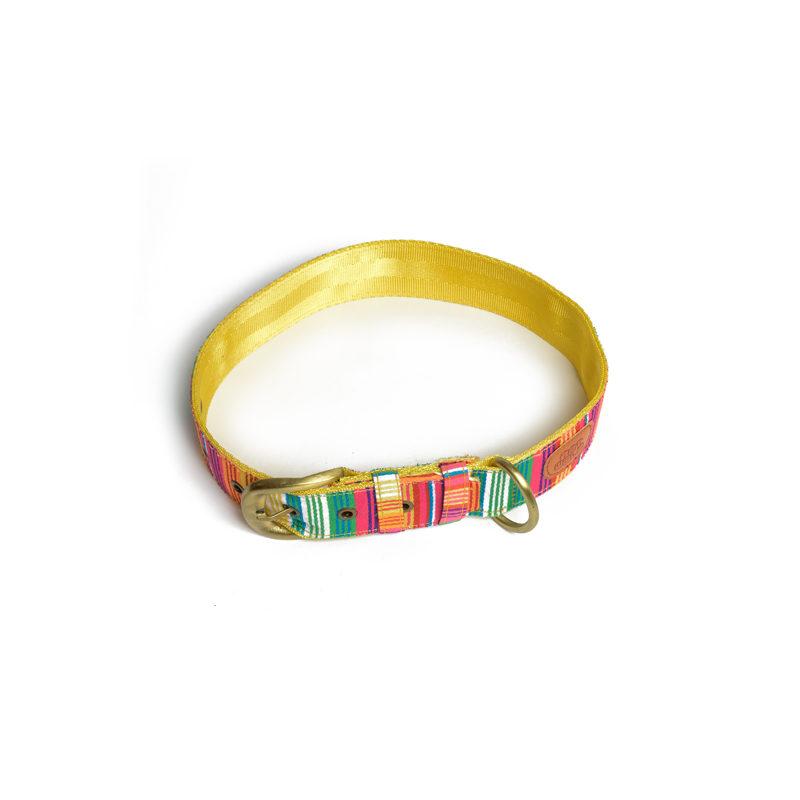 Pet Wale Colourful Stripes Belt Dog Collar