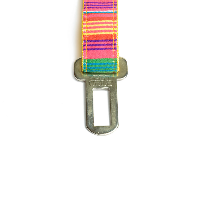Pet Wale Colourful Stripes Car Seat Belt
