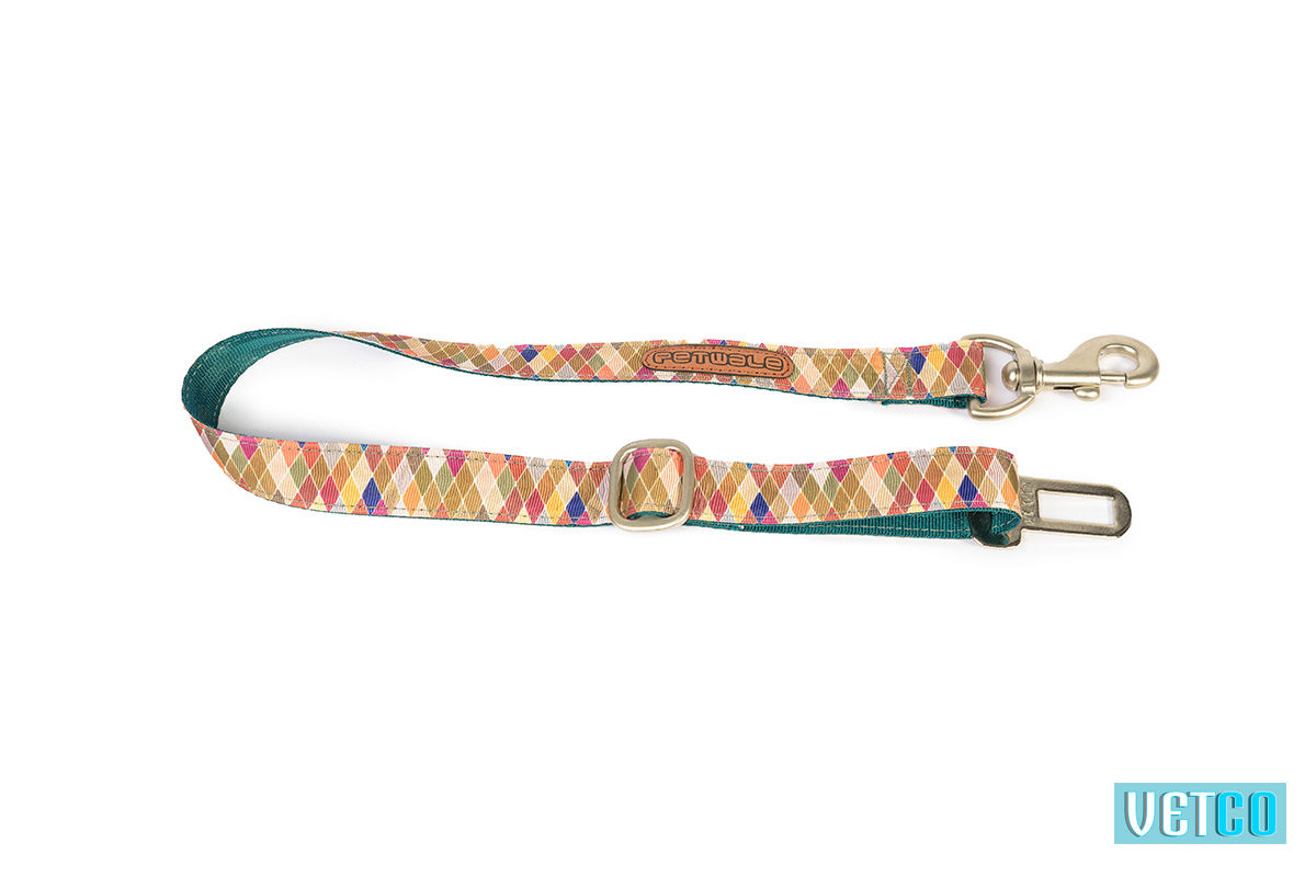 Pet Wale Diamond Green Car Seat Belt