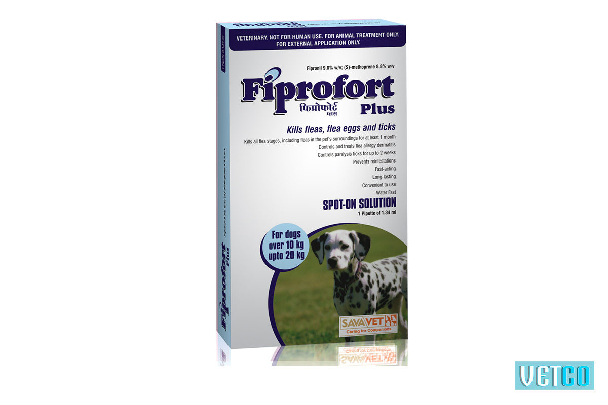 Fiprofort Plus Spot-On Solution For Medium Dogs (10 kgs upto 20 kgs)
