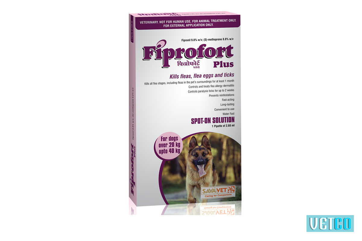 Fiprofort Plus Spot-On Solution For Puppies (20 kg upto 40kgs)