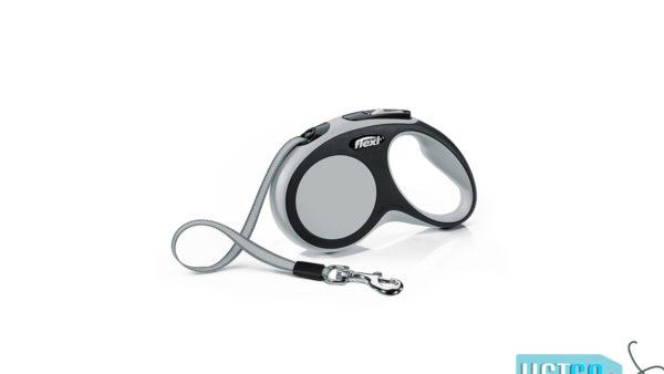 Flexi New Comfort Retractable Tape Dog Leash - Grey