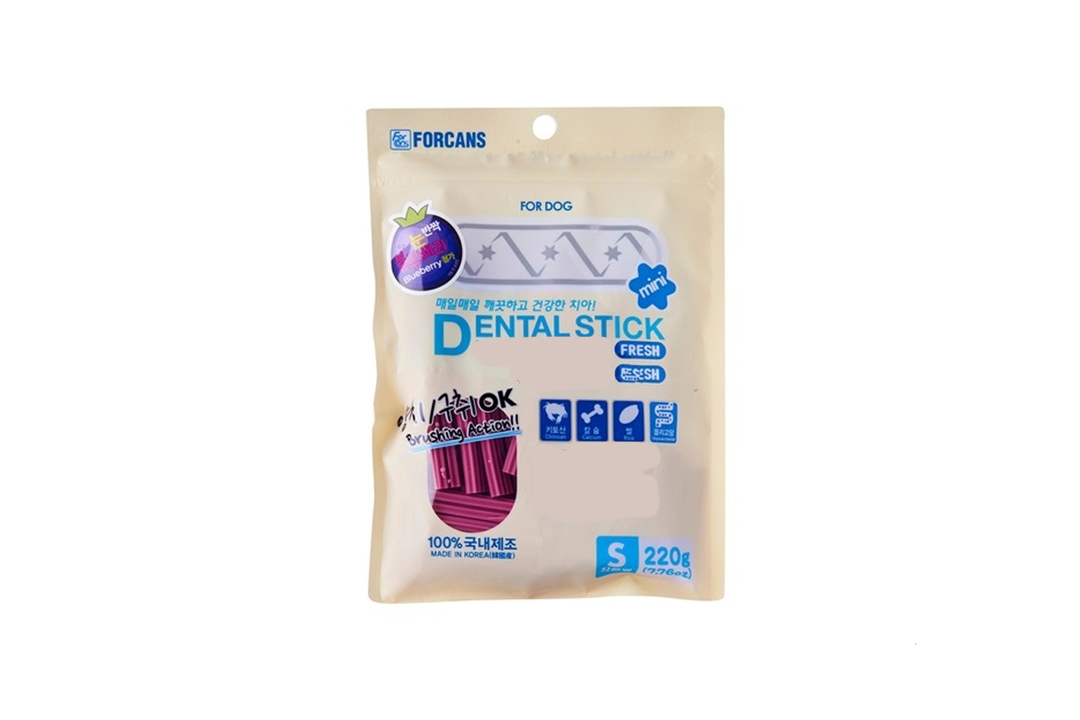Forcans Dog Dental Stick Fresh With Blueberry (Small Star), 220gms