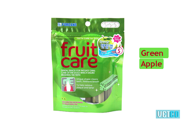 Forcans Fruit Care Medium Dental Dog Treats (Green Apple