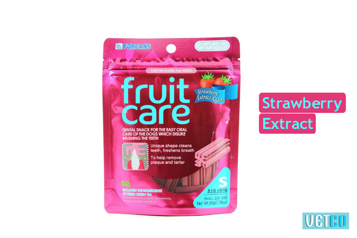 Forcans Fruit Care Medium Dental Dog Treats (Strawberry)