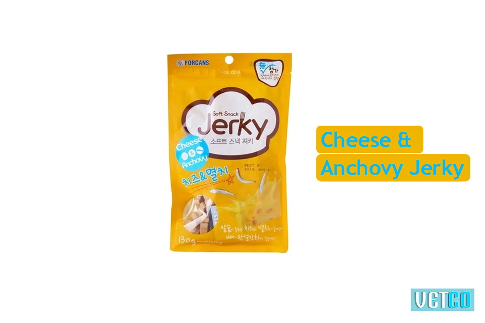 Forcans Soft Snack Cheese & Anchovy Jerky