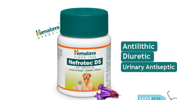 Himalaya Nefrotech DS Vet – Antilithic, Diuretic and Urinary Antiseptic Tabs