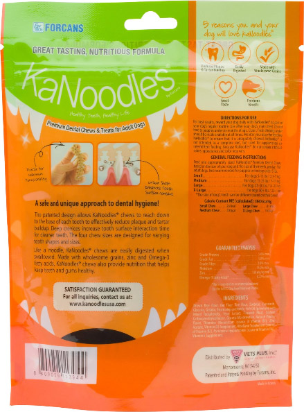 KaNoodles Small Premium Dental Chews Adult Dog Treats