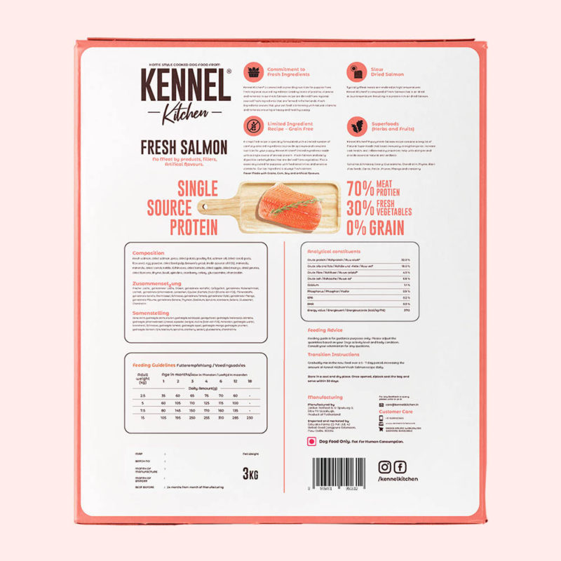 Kennel Kitchen Puppy Fresh Salmon Dry Dog Food (Small & Medium Breeds)