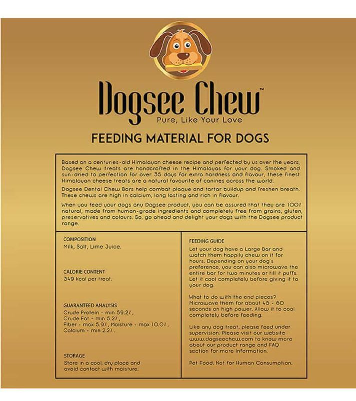 Large Bars Long-Lasting Dental Chews for Large Dogs