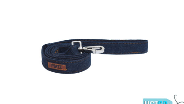 Mutt Ofcourse Dark Blue Denim Leash