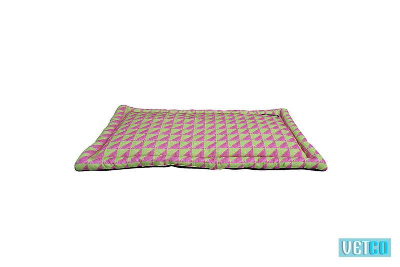 Mutt Ofcourse Green & Pink Water Color Dog Mat