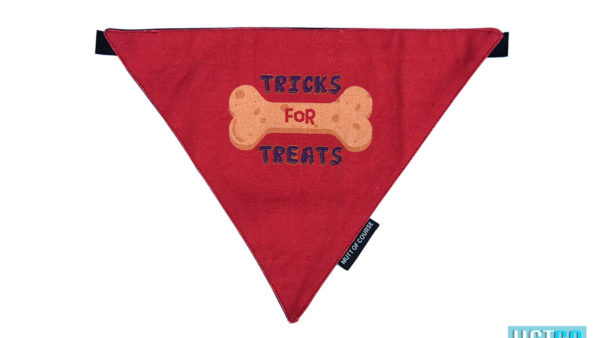 Mutt Ofcourse tricks for treats Bandana