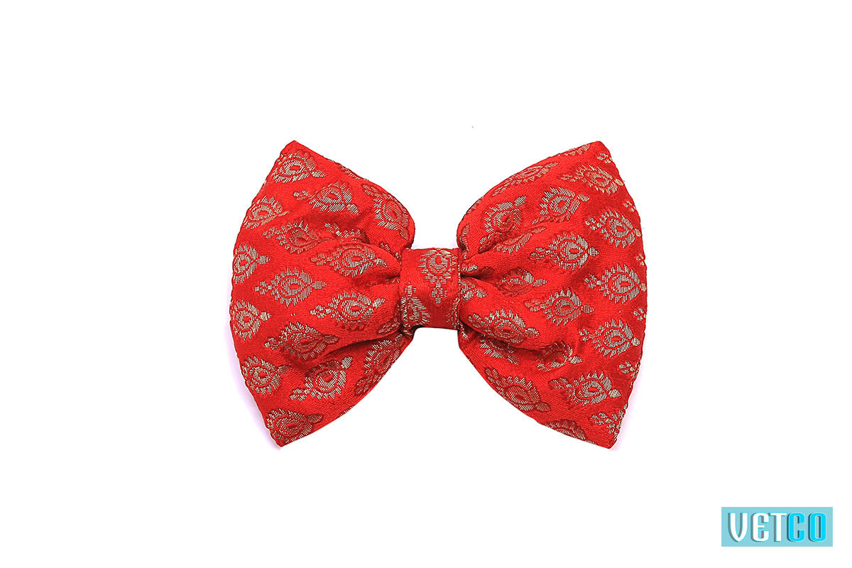Mutt Ofcourse Festive Bow Wow Tie - Red