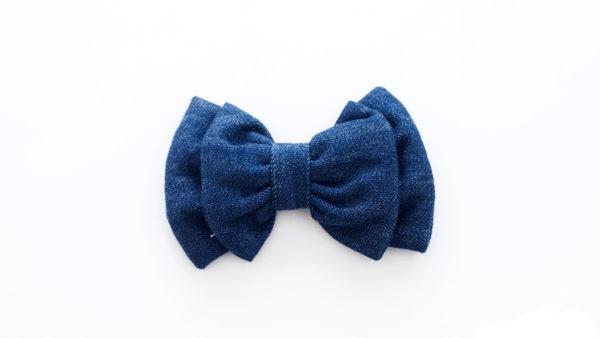 Mutt Ofcourse Dark Blue Denim Bow