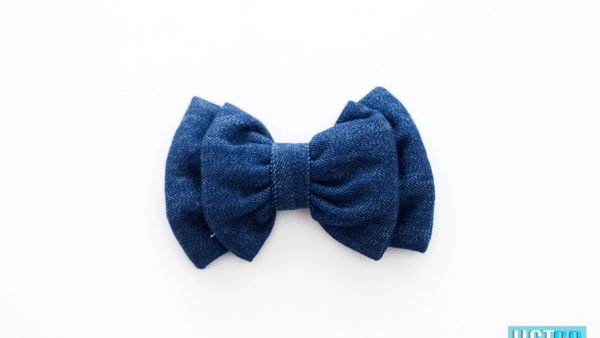 Mutt Ofcourse Dark Blue Denim Bow