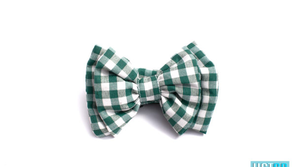 Mutt Ofcourse Checkmate Green Bow Tie