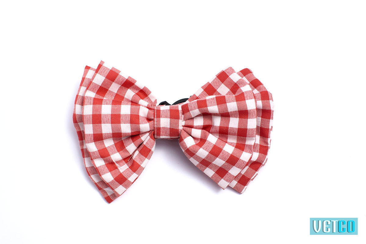 Mutt Ofcourse Checkmate Red Bow Tie