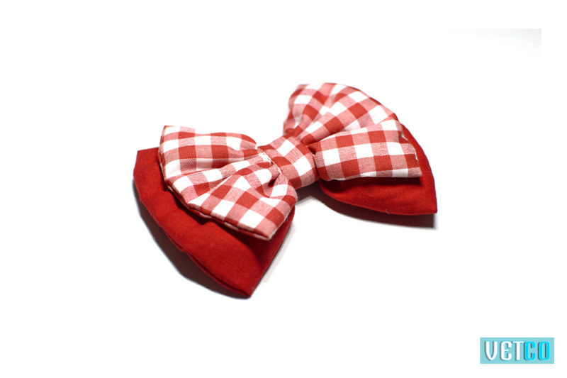 Mutt Ofcourse Cherry Red Dog Bow