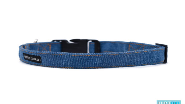 Mutt Ofcourse Stud Muffin Dark Blue Denim Collar