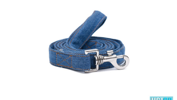Mutt Ofcourse Stud Muffin Dark Blue Denim Leash