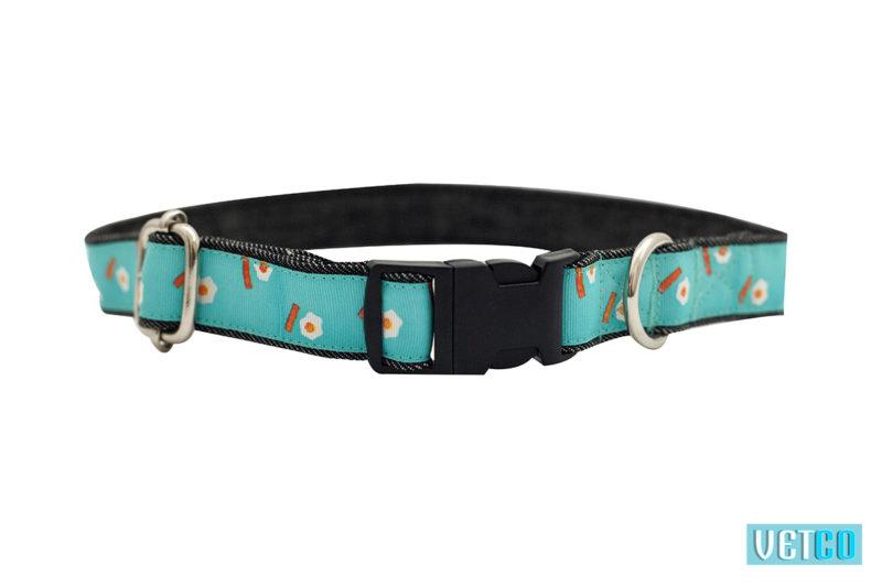 Mutt Ofcourse Geometrical Printed Denim Dog Collar