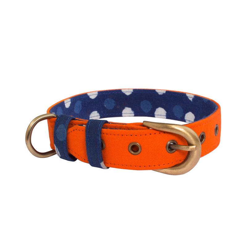 Pet Wale Orange Belt Dog Collar