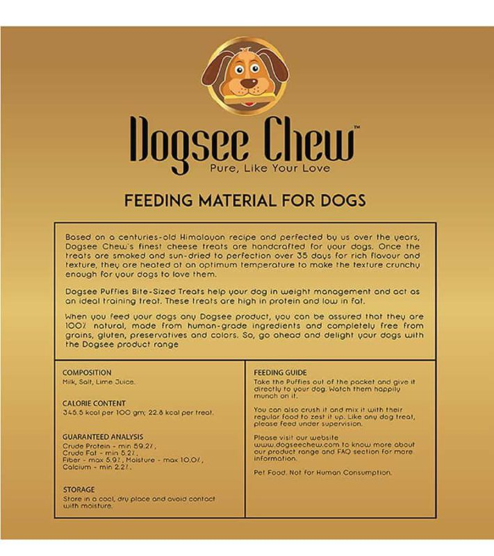 Dogsee Chew - Long-Lasting Dental Yak Chews for Large Dogs