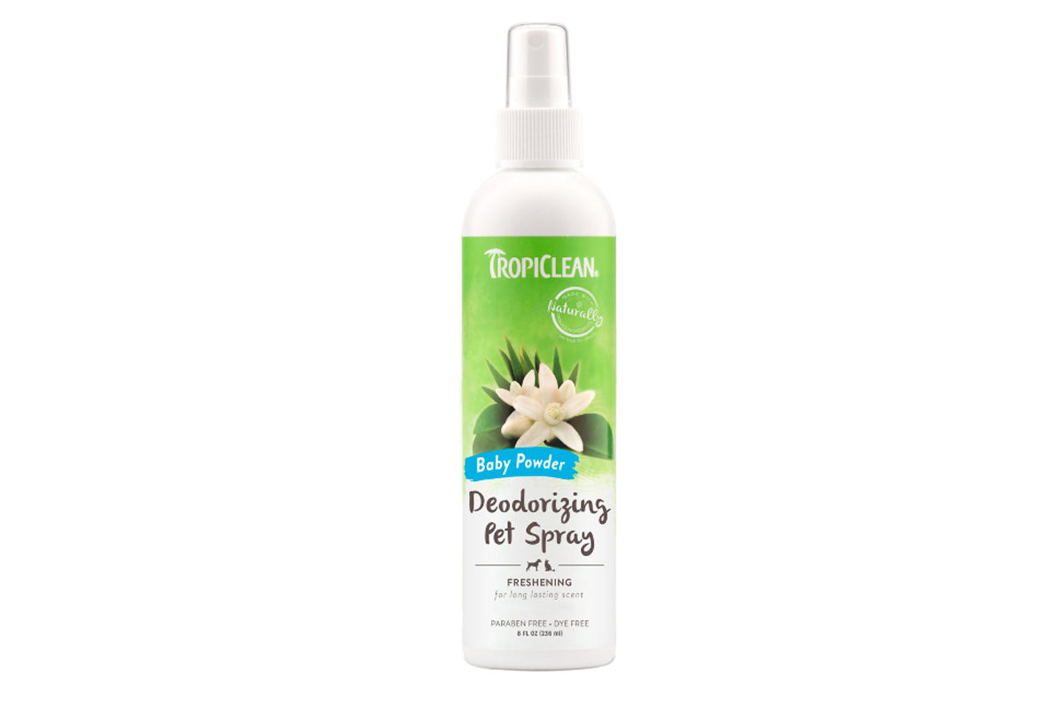TropiClean Baby Powder Deodorizing Dog & Cat Spray, 236 ml