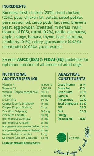 Wag & Love Adult Vigor Dry Dog Food (Small & Medium Breeds)