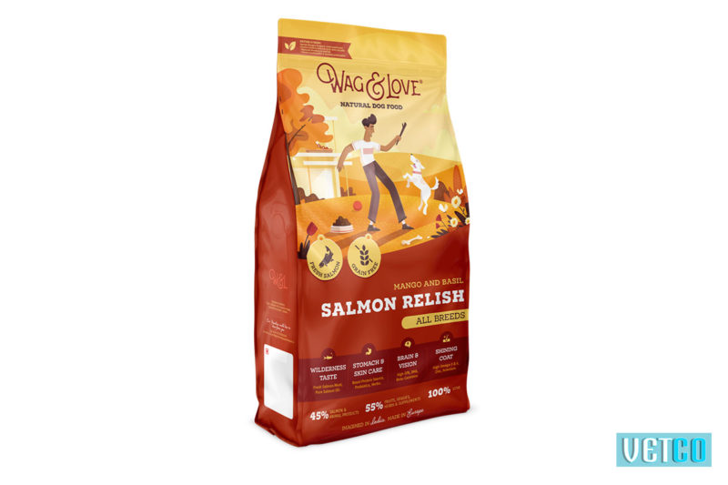Wag & Love Salmon Relish Dry Dog Food (All Breeds & Sizes)
