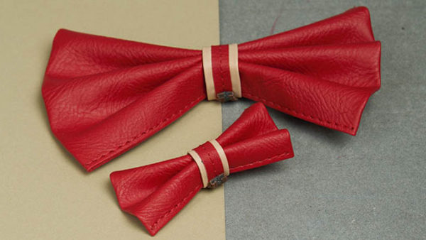 We Exist Candy Apple Red Bow Tie
